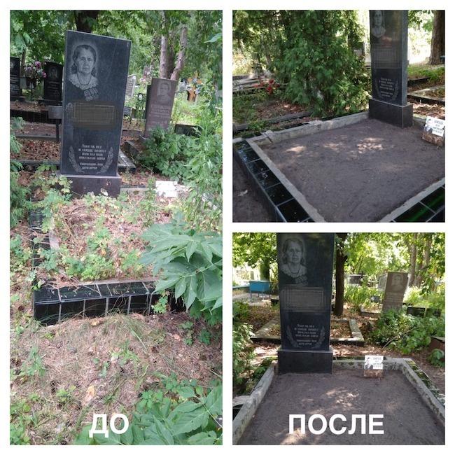 уборка могилы в киеве