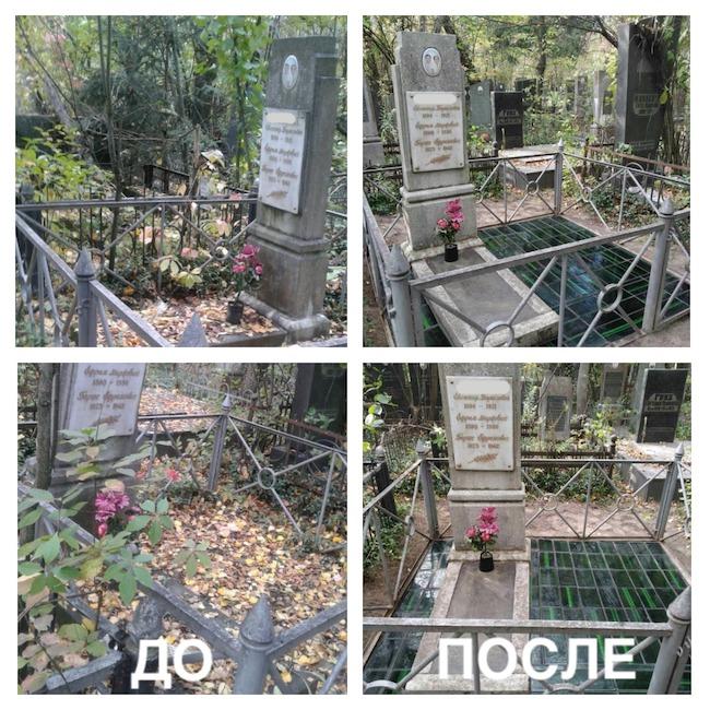 уборка могил октябрь 2020